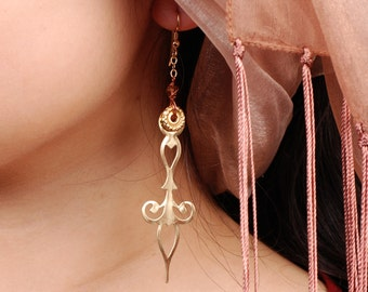 Steampunk Earrings - Clock Hand Earrings - Brass Earrings - Dangle Earrings - Steam Punk Earrings