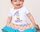 SALE - First Birthday Onesie / Bodysuit - Choose Fabric - Perfect for pictures or first birthday gift - choose chevron, stripe, dots