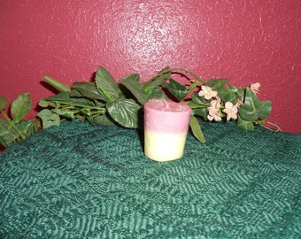 Five, Birthday Cake Scented Wax Votive Candle, Soy