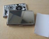 3 Blank Business Card Holders with Resin Stickers