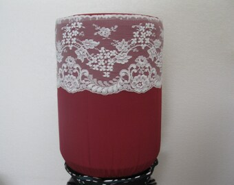 Burgundy and White Lace-Water bottle Cover-Bottle Cover for 5 gallon Water