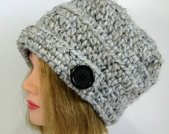Womens Hat Urban Style,Bucket Hat, Winter Warm Trapper Hat,chunky knit hat, Ready to Ship