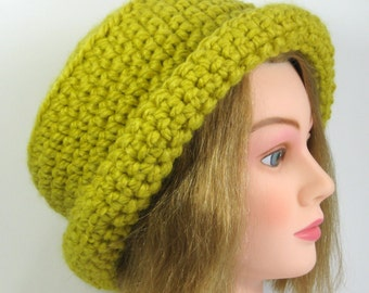 Womens Cloche Hat in Citron  Ready to Ship