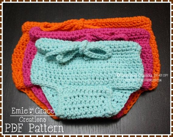 Crochet Pattern Central Diaper Cover : Diaper Cover Crochet Pattern BASIC pdf 713