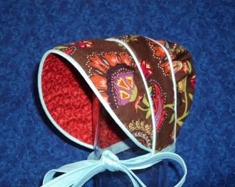 Peekaboo Baby Bonnet Reversible Preemie or Newborn