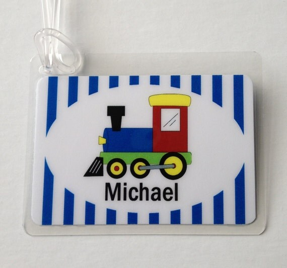 Train Luggage Tag Kids Bag Tag Train Party Favor