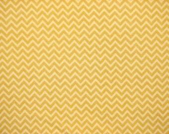 Yellow Chevron Fitted Crib Sheet