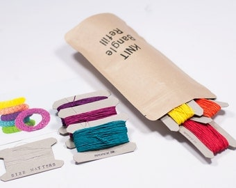 DIY Kit Knit Bangle Refill: 6 x 17m (18.6 yards) of  Paper Twine in your choice of colors - personalize your refill kit