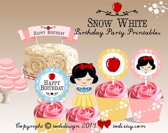 Little Princess Birthday Party Printables - Snow White Party Printables