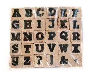 Mini alphabet Rubber Stamp Set   Times Roman Bold NIP
