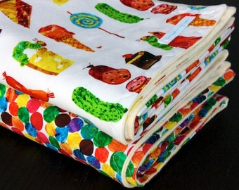 Baby Blanket- Pick your own fabric- Made with organic flannel backing