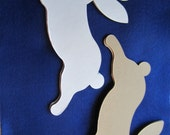 DIY Bunny Rabbit Blank Chipboards- Alterable White Bunny Rabbit Shapes for Decorating-Unfinished - Easter Spring Party-Party Decor