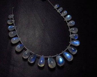 AAA - Amazing Trully High Quality - Rainbow MOONSTONE - Smooth Polished Tear Drops briolett Huge size - 4x7 - 7.5x13 mm - 21pcs