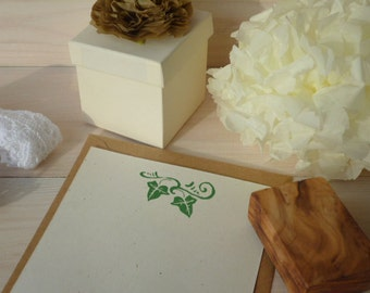 Ivy Love You Olive Wood Stamp