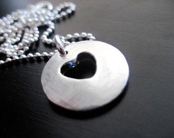 Fine Silver Heart Necklace
