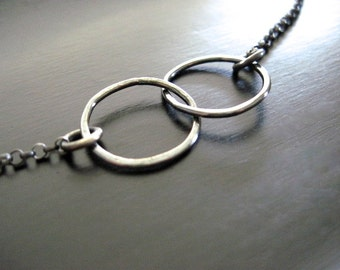 Oxidized Sterling Silver Infinity Necklace