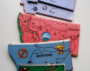 MONTANA Vintage puzzle pieces- set of 9
