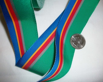 2 yds.of vintage millinery ribbon in a gorgeous stripe more avail.