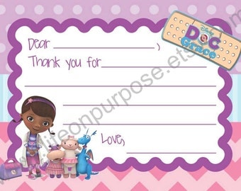 Doc McStuffins Thank You Card