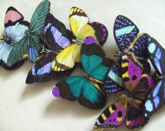Wood, Butterfly brooch, wooden butterfly, choose style,purple, teal, pink, grey, yellow, by NewellsJewels on etsy