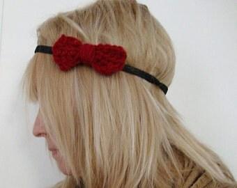 Small Crochet Bow Head Band
