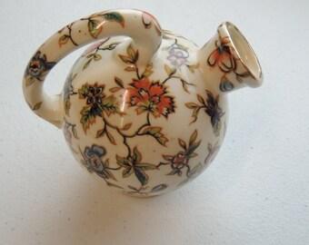 vintage chintz, small floral jug
