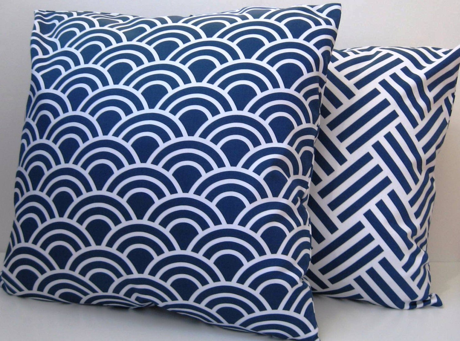 Modern White Pillow : Blue and White Pillow Cover Modern Pillow Decorative