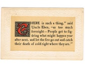 Vintage Embossed American Postcard with a Saying of Uncle Eben - 1911
