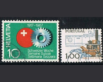 38  Postage Stamps - Technique - Machines