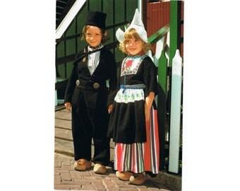 6 Vintage Traditional Costume Postcards - Folk Dresses - North West Europe