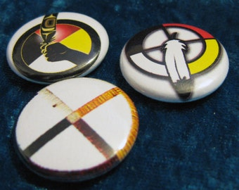 Medicine Wheel Native American Button Set