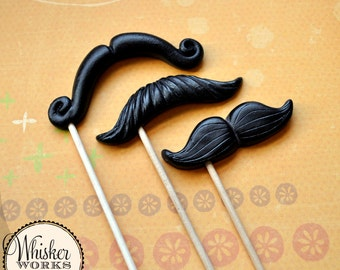 Mustache Party Favors - The Celebrity Mix - Set of 3