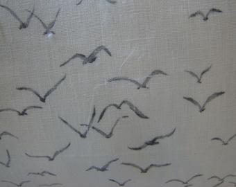Thom Filicia SEAGULLS Fog Linen Lumbar Pillow Cover, 21 x 12