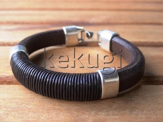Black leather bracelets, mens Black bracelet, mens leather bracelets, mens bracelets, Black bracelets, leather Bracelets, silver bracelets