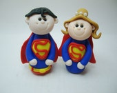 Polymer Clay Superman Wedding Topper