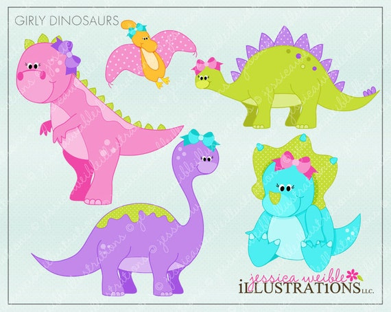 free girl dinosaur clipart - photo #8