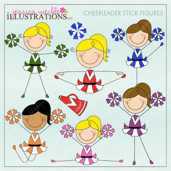 Cute Stick Figures Cheerleader Stick Figu...