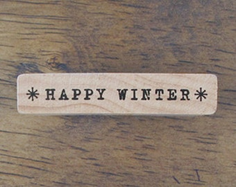 Happy Winter Stamp (2 x 0.4in)