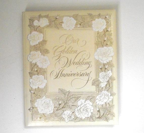Hallmark Wedding Album: Our Golden Wedding Anniversary Vintage Hallmark Cards Blank