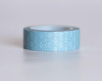Retro Sky Blue Washi Tape-  Single Roll 10 mm