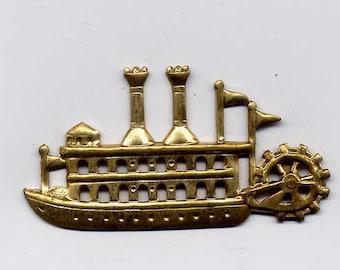 4 Steamboat or Riverboat Brass Metal Stampings