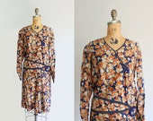 20s dress - vintage 1920s silk flapper dress - tangerine & cobalt - Extra Small - Small - antique - Great Gatsby dress - Jazz Age