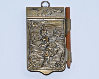 Antique Dance Card Pendant Chatelaine