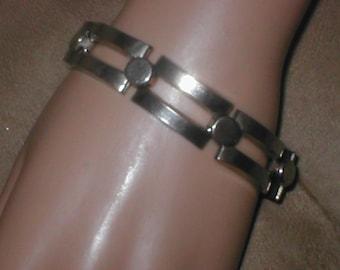 Vintage Silvertone  Art-Deco Style Bracelet