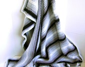 Crocheted Pin Stripe Man Cave Blanket Pattern - Easy Pattern - Great for Beginners