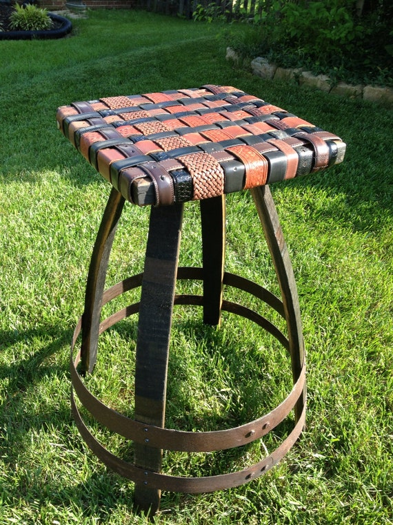 Items Similar To Bourbon Barrel Stave Bar Stool With