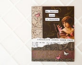 Handmade Card -  chocolate - collage OOAK - Mother's Day card, friendship card, birthday card, thank you - newnanc - Nouveau Nancy