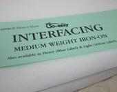 White Medium Weight Iron on Interfacing
