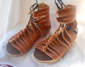 Leather roman open shoes CALIGAE