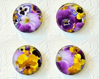 Magnet Set  Pansies  Buy 3 Get 1 Free  275M